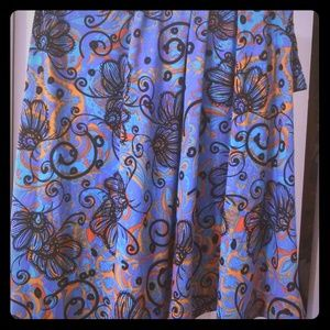 Lularoe Azure like new paisley print skirt